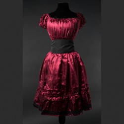 Vestido satin red gothabilly