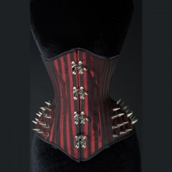 Corset extreme red stripes spike