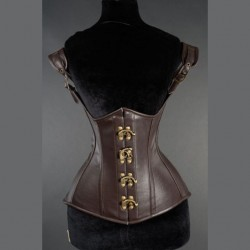 Corset marrón polipiel princess