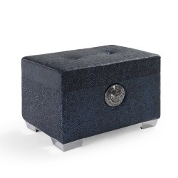 Pouf vintage azul brocado new rock