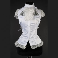 Blusa white laced