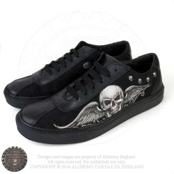 Sneakers Ghost skull winged