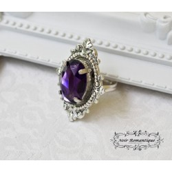 Anillo victorian gothic amethyst