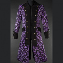 Abrigo brocade long pirate morado