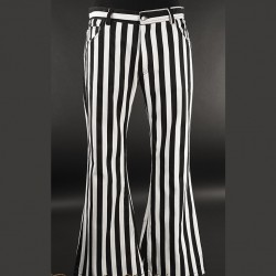 Pantalones white stripes pata ancha