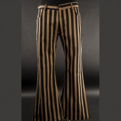 Pantalones steampunk stripes pata ancha
