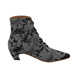 Botin flower pattern gris