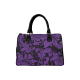 Bolso rectangular asas flower pattern morado