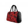 Bolso rectangular asas flower pattern rojo