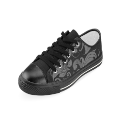 Zapatilla flower pattern gris perforaciones