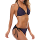 Bikini purple stripes