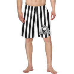 Bañador skull and white stripes