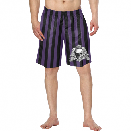 Bañador skull and purple stripes