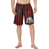 Bañador skull and red stripes