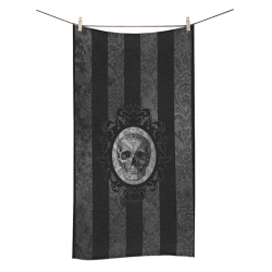 Toalla baño skull grey stripes