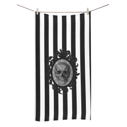 Toalla baño skull white stripes