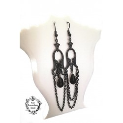 Pendientes black bat chandelier