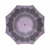Paraguas plegable victorian battenburg lace double purple