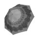 Paraguas plegable victorian battenburg lace flowers grey