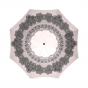 Paraguas plegable victorian battenburg lace double baby pink