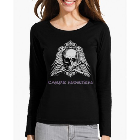 Camiseta carpe mortem manga larga