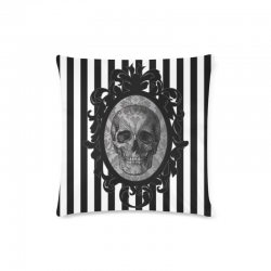 Cojin cameo skull red stripes