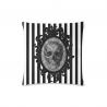 Cojin cameo skull white stripes