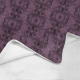 Manta franela deadly purple baroque skull damask varias medidas