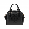 Bolso asa y correa baroque skull damask very dark gray