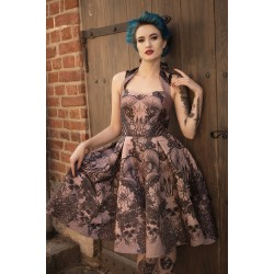 Vestido pin up gothic skull