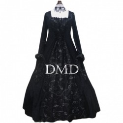 Vestido medieval black and silver