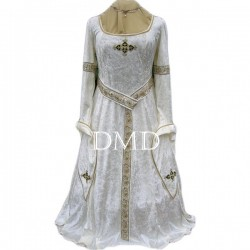 Vestido medieval ivory and gold
