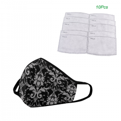 Mascarilla REUTILIZABLE + 10 FILTROS brocade black grey