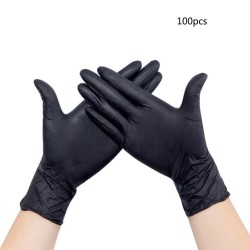 100 uds guantes nitrilo negro