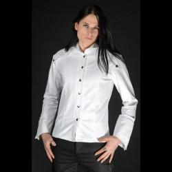 Camisa regal satén blanco